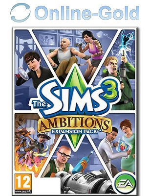 The Sims 3 Ambitions Expansion Pack PC Game - Origin Digital CODE [NEW] [UK]
