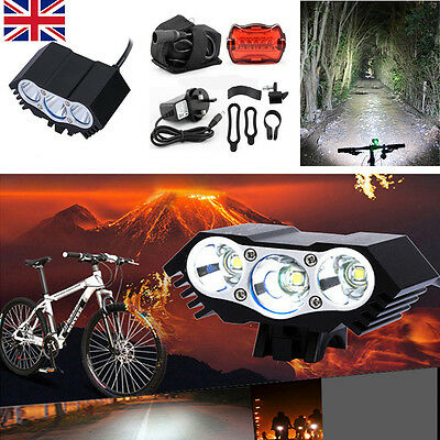 8000Lm CREE U2 T6 Mountain Cycle Bicycle Light Headlight Bike Front Lamp Torch