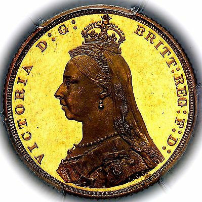 1887 Queen Victoria Great Britain London Gold Proof Sovereign PCGS PR63+ DCAM