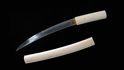 Clay Tempered Hand Forged High Carbon Steel Japanese Samurai Sword Tanto