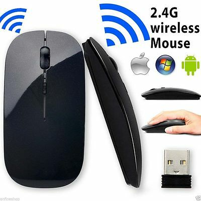 Wireless Slim USB 2.4 GHz Optical Scroll Mouse Mice For Computer PC Laptop Mac