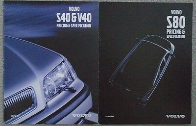 Volvo S40 V40 S80  Range Pricing and Specifications Brochure 1999 X 2