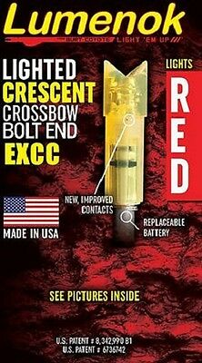 Lumenok 3 Pack- Beman and Easton Crossbow  Bolts- Red- Cresent