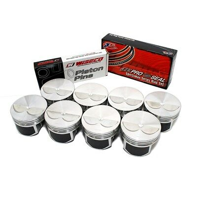 "Wiseco PTS525A3 Pro Tru Pistons Small Block Chevy 406 6"" Rod Flat Top .30 Bore"