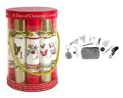 Christmas Crackers 12 Days Of Xmas Barrel Gift Party Table Novelty Classic