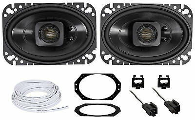 "Polk Audio 4x6"" Waterproof Front Speaker Replacement For 97-02 Jeep Wrangler TJ"