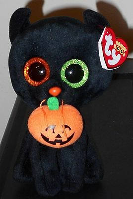 "Ty Beanie Boos - SHADOW the 6"" Halloween Black Cat with Tags ~ 2016 NEW ~IN HAND"