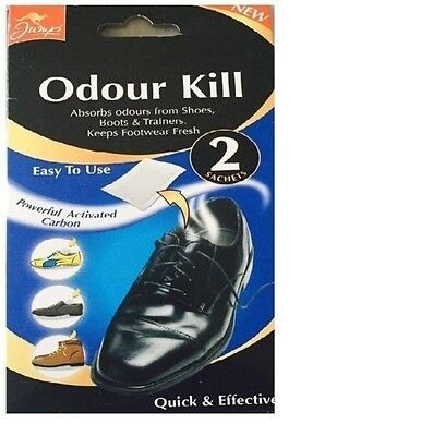 Jump Odour Kill For Shoes 2 Sachet Pack Absorbs Bad Smells From Boots Trainers