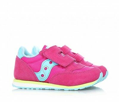 Saucony Originals Baby Jazz Scarpe Bambina Strappo Pelle Mesh Fuxia Kids Shoes