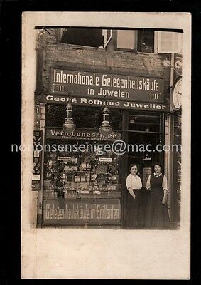 JUDAICA Germany / Poland ? GEORG ROTHAUG JUWELEN SHOP FRONT REAL PHOTO PC - J187