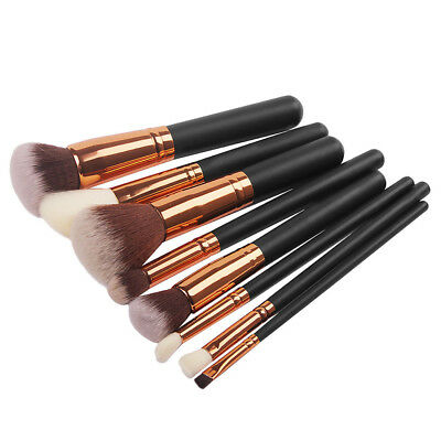 Rose Golden Pro Makeup Cosmetic Complete Eye Set Power Brushes with Zipper Bag