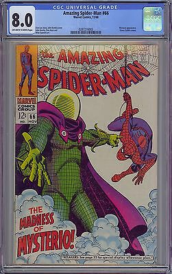 Amazing Spider-Man #66 CGC 8.0 VF Ow-Wp Marvel Comics 1968 Early Mysterio App