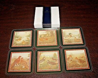 Set of 6 Pimpernel Coasters GAME BIRDS Made in England, Box Incl