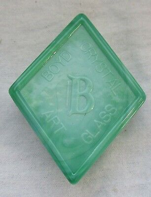 "Boyd Glass  Logo Paperweight  ""mint Green"""