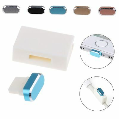 Metal Skin PC Charger Port Anti Dust Plug Cap Stopper Cover for iPhone 7/7 Plus