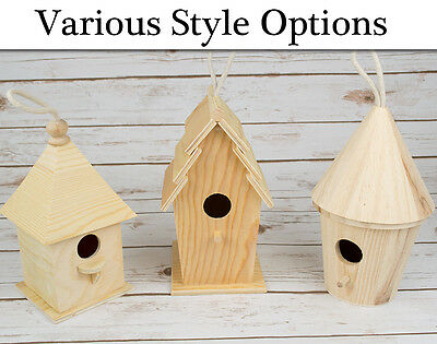 Wooden Bird Box or Birdhouse - Choice of Style