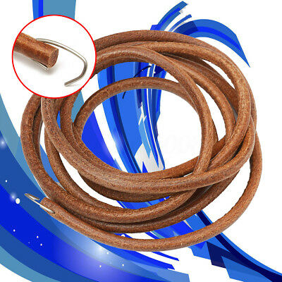 72'' Leather Belt Treadle Parts W/ Hook For Singer Sewing Machine 3/16'' (5mm)