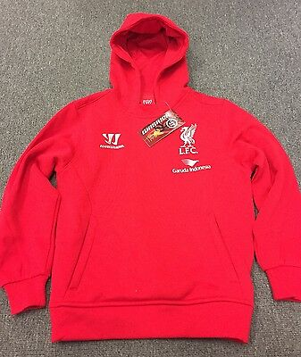 OFFICIAL WARRIOR LIVERPOOL HOODIE YOUTH SMALL (Size 8)