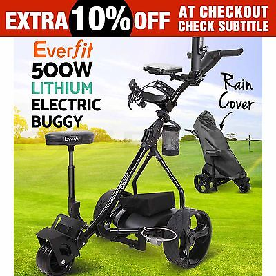 Everfit 500W Electric Golf Buggy Folding Trolley Caddy Motorised Lithium Battery
