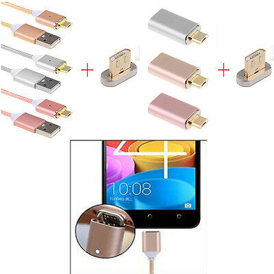 2.4A Micro USB Magnetic Charging Cable Adapter Charger for Android Samsung LG
