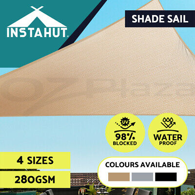 Sun Shade Sail Cloth Canopy Outdoor Shadecloth Awning Triangle 280g/m