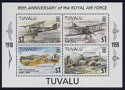 1998 TUVALU ROYAL AIR FORCE 80th ANNIVERSARY MINISHEET FINE MINT MNH/MUH