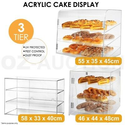 Deluxe Large Cake Display Cabinet Acrylic Bakery Muffin Pastries Multi-Choice