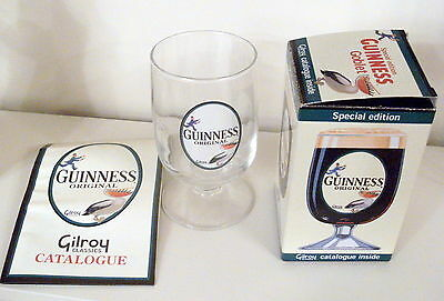 Special Edition Boxed Guinness Goblet With Gilroy 2001 Catalogue