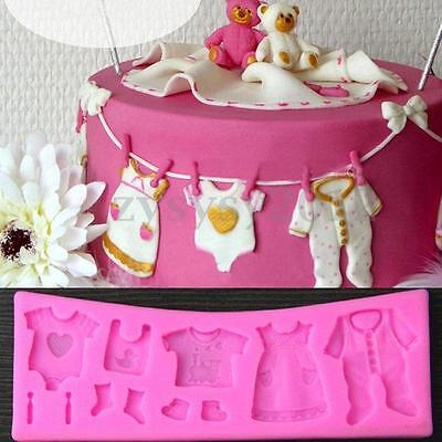 3D Baby Shower Silicone Fondant Mould Cake Decorating Chocolate Mold Baking Tool