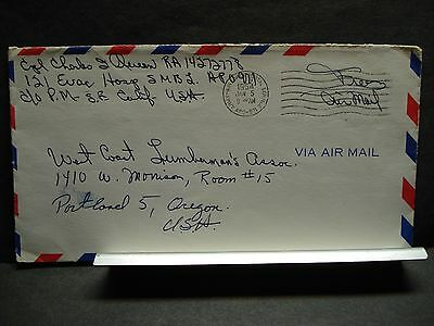 APO 971 YONGDUNG PO, KOREA 1954 Army Air Force Cover 121 HOSPITAL Soldier's Mail