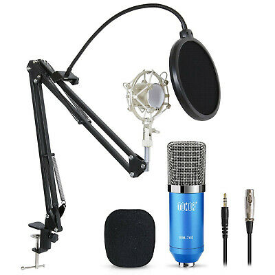 Pro Studio Microphone Podcast Recording Gaming Microphone Mic W/ Boom Arm Stand