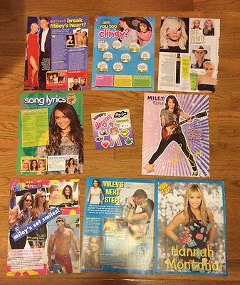 RARE Miley Cyrus Posters & Articles! Hannah Montana We Can't Stop Bangerz