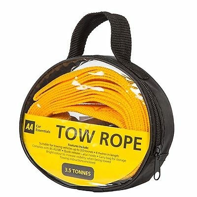 The AA - Tow Rope 4.0m - 3.5 tonne - in carry bag pack