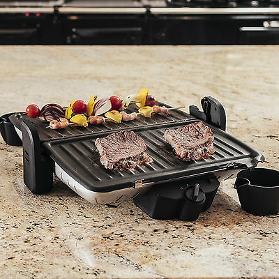 Ovation Multi-Function 5 Portion Non-Stick Griddle Grill Table BBQ Griller 1600W