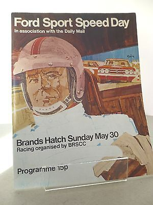 Brands Hatch Ford Sports Speed Day Official Programme 30th May 1971