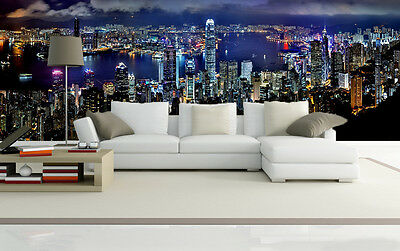 3D Nice city night view Wall Paper Wall Print Decal Wall Deco Indoor wall Murals