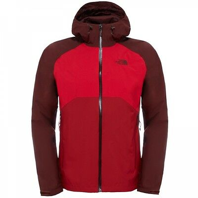 The North Face Herren Stratos Jacket Hardshelljacke Regenjacke Cardinal Red Tnf