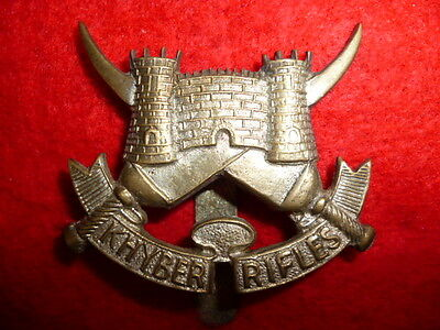 The Khyber Rifles Larger size Cap Badge - Colonial India
