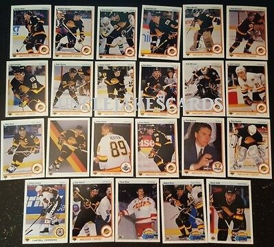 1990-91 UPPER DECK VANCOUVER CANUCKS Select from LIST NHL HOCKEY CARDS
