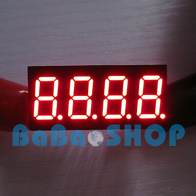 """2pcs New 0.36"""" 0.36 inch 7 Segment Display Red LED 4 Digit Common Anode"""