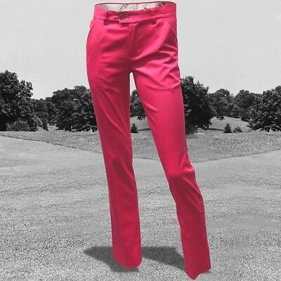 Royal & Awesome Trendy Funky Golf Trousers Pink Ticket Bright Pink 16,18 New