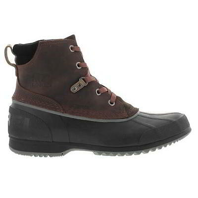 Sorel Ankeny Mens Brown Leather Waterproof Ankle Boots Brown Size UK 8-12
