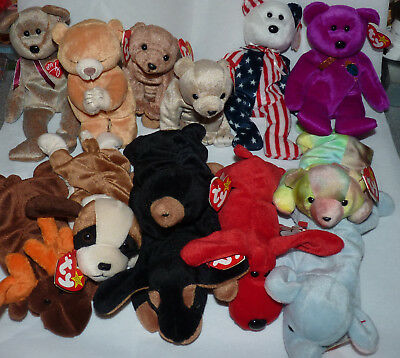Ty Beanie Bears - Assorted Retired - Good Condition #gift/collector