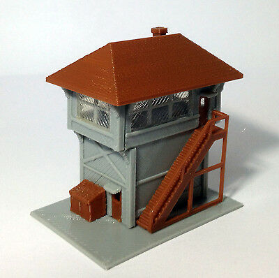Outland Models Train Railway Layout Signal Tower / Box for Station N Scale 1:160