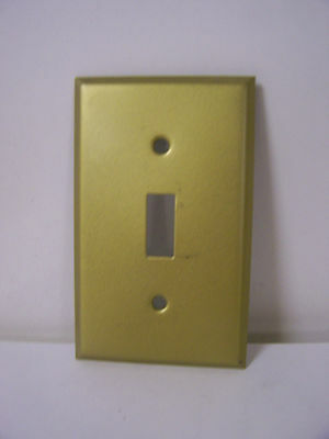 Vintage Single Switch Cover Plate Dull Brushed Brass Plated