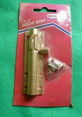 Vintage Ross Tools Straight Sliding Door Bolt Lock Security New In Sealed Packet