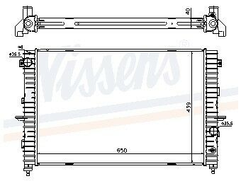 New Oe Quality Nissens Land-Rover Discovery 2.5 Td5 - Radiator - 64313A