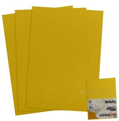 50 Sheets of A4 180gsm Coloured Craft Card - BANANA YELLOW - Premier 61228