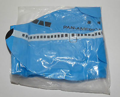 """RARE Vintage PAN AM Airlines NEW Inflatable Blue Boeing 747 Airplane 24"""" Long"""
