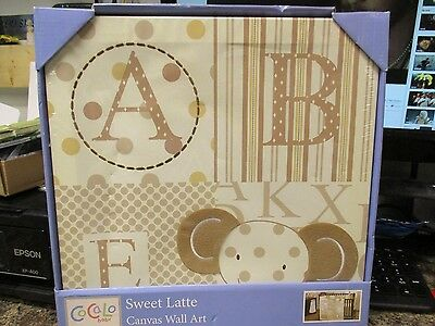 Cocalo Sweet Latte Canvas Wall Art For Nursery  Fast/free Shipping